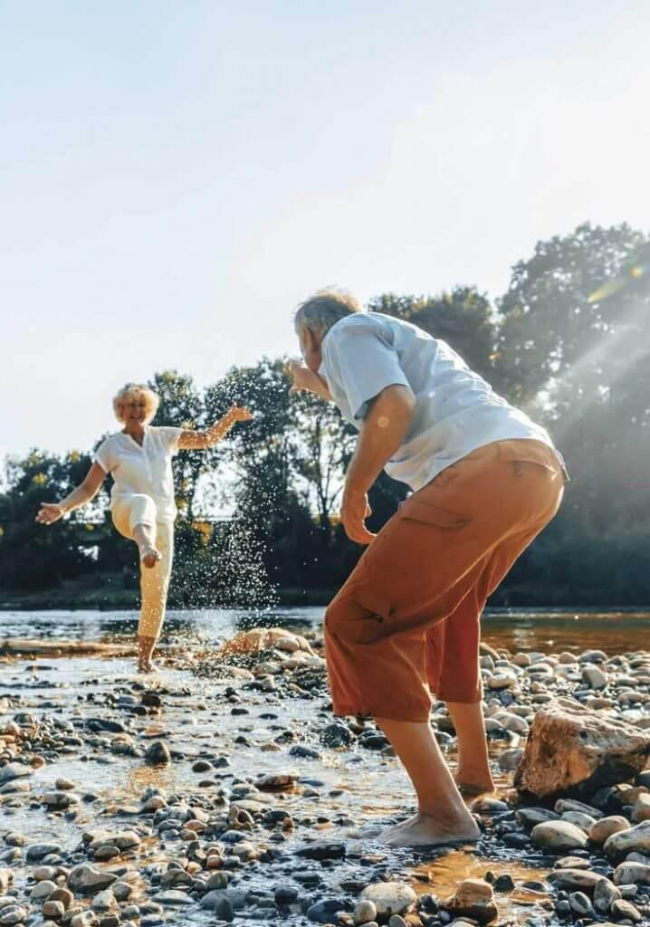 55+ community members enjoy Bow Lake