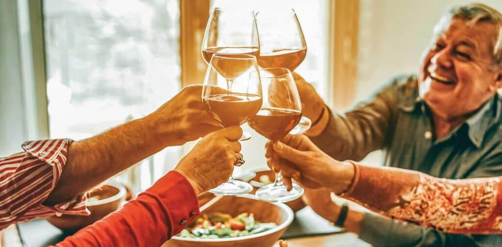 55+ community members in SeaTac enjoy wine
